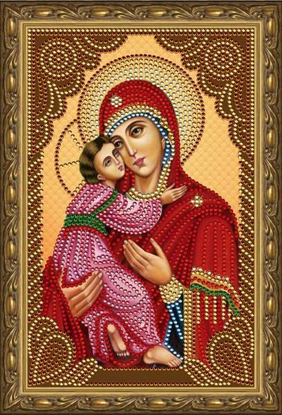 Алмазная мозаика 20x30 Владимирская икона Божией Матери