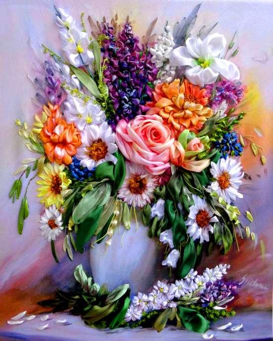 Картина по номерам 40x50 Сочный букет в вазе