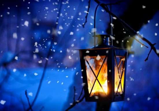 Картина по номерам 40x50 Фонарик в зимней ночи